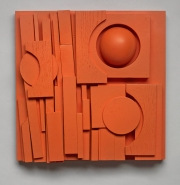 "IMPRINT 2015 10"" x 10"" x 4"" Painted Wood"