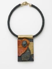 "(20) 4"" x 2 1/4 "" x 5 /8"" agate cabochon rhodochrosite slab, obsidian, gold paint, rusted metal, brass"